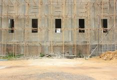W budowie budynek Obrazy Royalty Free