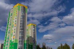 w budynku położenie Norway Oslo Blok mieszkalny nowożytny i elegancki żywy blok mieszkalny mieszkań nieruchomości domów prawdziwe Zdjęcie Stock