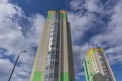 w budynku położenie Norway Oslo Blok mieszkalny nowożytny i elegancki żywy blok mieszkalny mieszkań nieruchomości domów prawdziwe Fotografia Stock