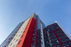 w budynku położenie Norway Oslo Blok mieszkalny nowożytny i elegancki żywy blok mieszkalny mieszkań nieruchomości domów prawdziwe Zdjęcia Stock