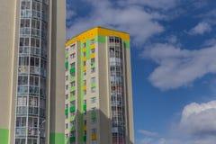 w budynku położenie Norway Oslo Blok mieszkalny nowożytny i elegancki żywy blok mieszkalny mieszkań nieruchomości domów prawdziwe Fotografia Royalty Free