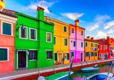 W Burano Włochy Fotografia Stock