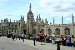 W Cambridge królewiątko Szkoła wyższa Zdjęcie Royalty Free