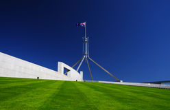 W Canberra australijski Parlament Zdjęcie Royalty Free
