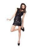 W cekin sukni moda model Obraz Stock