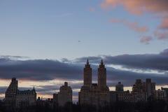 W Centrala Parku Jezioro Miasto Nowy Jork zamazany zdjęcie stock