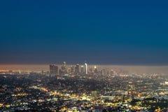 w centrum Angeles noc los obrazy royalty free