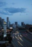 W centrum Atlanta zmierzchu linia horyzontu zdjęcia stock