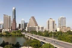 W centrum Austin linia horyzontu, Teksas zdjęcie stock