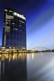 W centrum Austin nocy linia horyzontu Fotografia Royalty Free