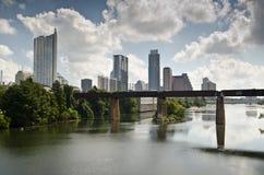 W centrum Austin Teksas linia horyzontu Zdjęcia Royalty Free