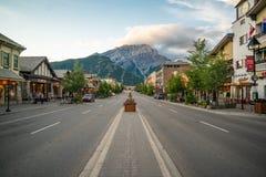W centrum Banff, Alberta, Kanada zdjęcie stock