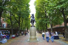 w centrum bostonu Zdjęcie Stock