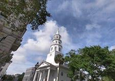 W centrum Charleston kościół iglica obrazy royalty free