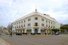 W centrum Chiclayo, Jeden miast przezwiska jest perłą północ, Lambayeque region, Północny Peru obraz royalty free