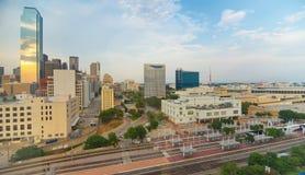 W centrum Dallas od above Obrazy Royalty Free