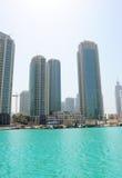 w centrum Dubai nieruchomości real obraz royalty free