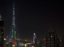 W centrum Dubaj święto państwowe 2013 Fotografia Stock