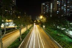 w centrum Hong kong ruch drogowy Fotografia Royalty Free