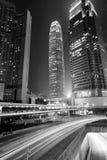 w centrum Hong kong ruch drogowy Zdjęcia Royalty Free