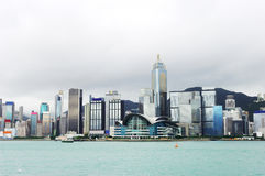 w centrum Hongkong Obrazy Royalty Free