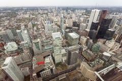 w centrum jeziornego Ontario linia horyzontu Toronto widok Obraz Royalty Free