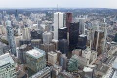 w centrum jeziornego Ontario linia horyzontu Toronto widok Obrazy Royalty Free