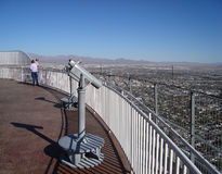w centrum las Vegas linia horyzontu Obrazy Royalty Free