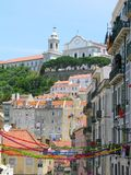 w centrum Lisbon Portugal Obrazy Royalty Free