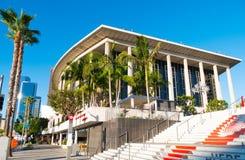 W centrum Los Angeles Dorothy Chandler pawilon & Muzyczny centrum Zdjęcie Stock