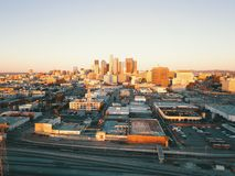 W centrum Los Angeles Kalifornia Fotografia Stock