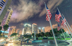 W centrum Miami, Bayfront park - Fotografia Stock