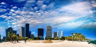 W centrum Miami, Bayfront park - Zdjęcia Royalty Free