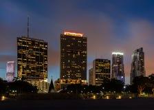 w centrum Miami linia horyzontu Fotografia Stock