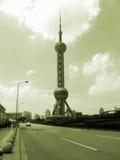 w centrum miasta Shanghai Fotografia Stock