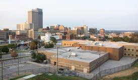 W centrum miasto linii horyzontu Omaha Nebraska Środkowy Zachód Miastowy krajobraz zdjęcia stock