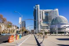 W centrum miastowy krajobraz, San Jose obrazy royalty free