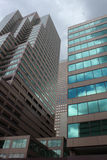 W centrum miastowy miasta skyscape Zdjęcia Royalty Free