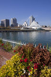 W centrum Milwaukee Wisconsin zdjęcia royalty free