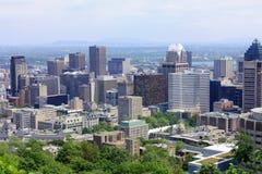 W centrum Montreal od góry Królewskiej, Quebec zdjęcia stock