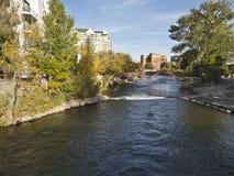 w centrum Nevada Reno rzeki truckee Fotografia Royalty Free