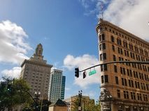 W centrum Oakland Broadway obrazy royalty free