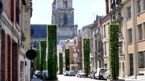 W centrum Orléans, miasto Francja zdjęcie wideo