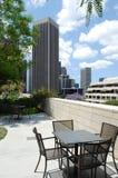 - w centrum patio usa Zdjęcia Stock
