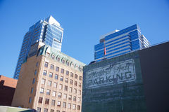 W centrum Portlandzcy Oregon budynki Zdjęcia Royalty Free