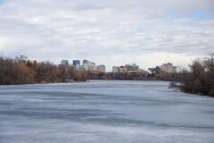 W centrum Regina linia horyzontu Zdjęcia Royalty Free