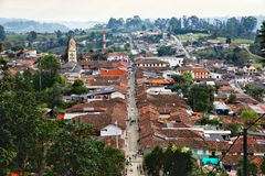 W centrum Salento Kolumbia fotografia royalty free