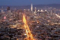 W centrum San Fransisco i Targowa ulica Obraz Royalty Free