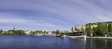 W centrum Savonlinna Fotografia Royalty Free