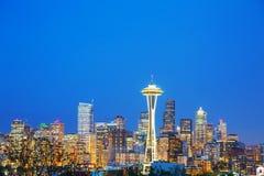 W centrum Seattle jak widzieć od Kerry parka Obrazy Stock